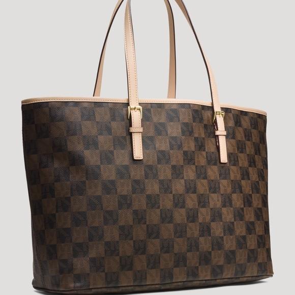 a54762b7bc71 MICHAEL Michael Kors Bags | Michael Kors Large Checkerboard Tote ...